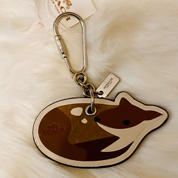 New with Tags Coach Deer Keychain Ring